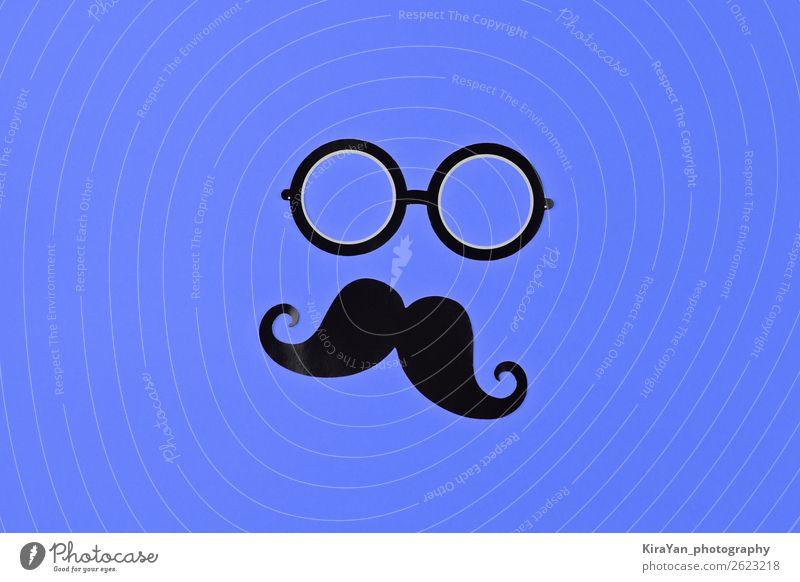 November ist Prostatakrebs Bewusstsein Monat Gesicht Gesundheitswesen Behandlung maskulin Mann Erwachsene Brille Oberlippenbart blau Schutz Hoffnung Krebs