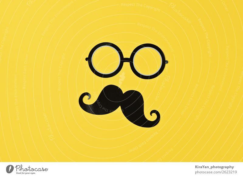 November ist Prostatakrebs Bewusstsein Monat Gesicht Gesundheitswesen Behandlung Krankheit maskulin Mann Erwachsene Oberlippenbart gelb Schutz Hoffnung Krebs
