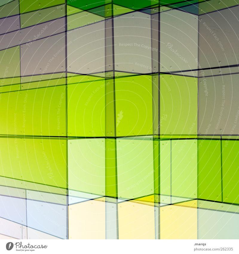 Diagramm grün Farbe Stil Linie hell Fassade außergewöhnlich Design modern Wachstum leuchten Zukunft Coolness einzigartig Grafik u. Illustration Dynamik