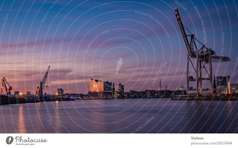Schönste Stadt Skyline 8 Hafenstadt Bauwerk Gebäude Sehenswürdigkeit Wahrzeichen Denkmal glänzend außergewöhnlich Coolness fantastisch maritim Hamburg