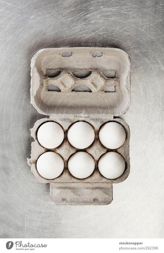 weiß Lebensmittel offen Ei Schachtel Paket verpackt