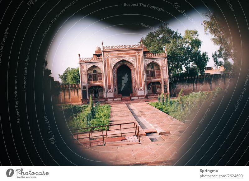 lookWHATSthere Agra Indien Stadt Palast Architektur Sehenswürdigkeit Moschee alt ästhetisch orange rosa rot Kraft Macht Sicherheit Schutz Geborgenheit ruhig