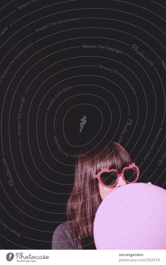 rosa lee Raum Feste & Feiern Geburtstag Valentinstag feminin Mädchen Junge Frau Jugendliche Kindheit 1 Mensch 18-30 Jahre Erwachsene Jugendkultur Sonnenbrille