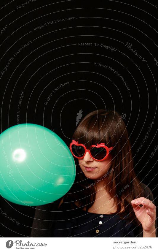 stella Mensch Jugendliche grün rot Freude schwarz Erwachsene feminin Haare & Frisuren Feste & Feiern Raum Junge Frau elegant 18-30 Jahre Luftballon rund