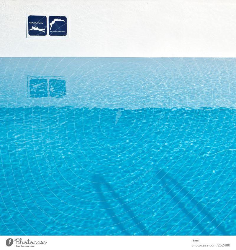 badeTag Q Schwimmen & Baden Freizeit & Hobby Ferien & Urlaub & Reisen Schwimmbad Wasser Zeichen Schilder & Markierungen Hinweisschild Warnschild Sport blau weiß