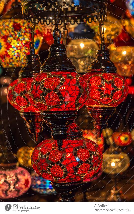 Mosaik Lampen Stil Design Dekoration & Verzierung Kunst Kunstwerk Lampenlicht Lampendetail Lampengeschäft Glas Metall leuchten mehrfarbig gelb gold grün rot