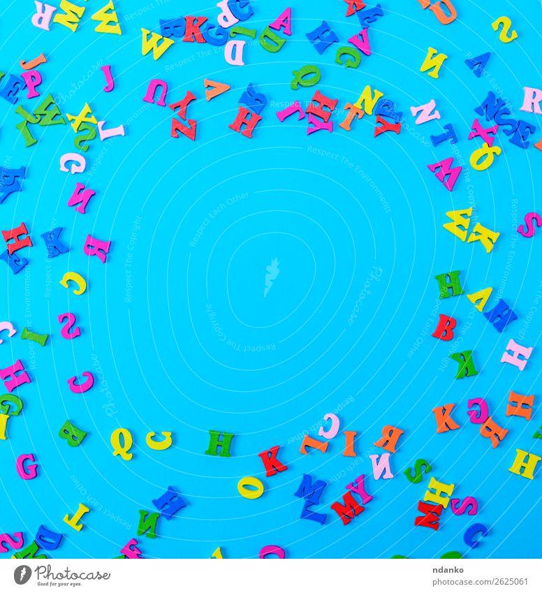 mehrfarbige englische Alphabetbuchstaben Freude Spielen Dekoration & Verzierung Bildung Kind Schule Spielzeug Holz blau gelb grün rosa rot Farbe Hintergrund