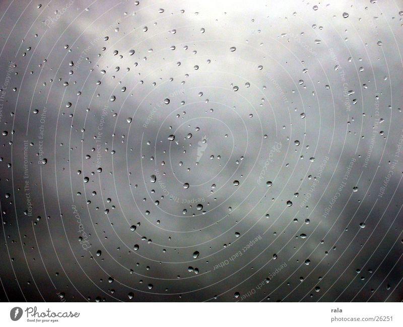 raindrops Regen Fenster Herbst Winter Trauer schlechtes Wetter Fensterscheibe Traurigkeit Wolken Wassertropfen