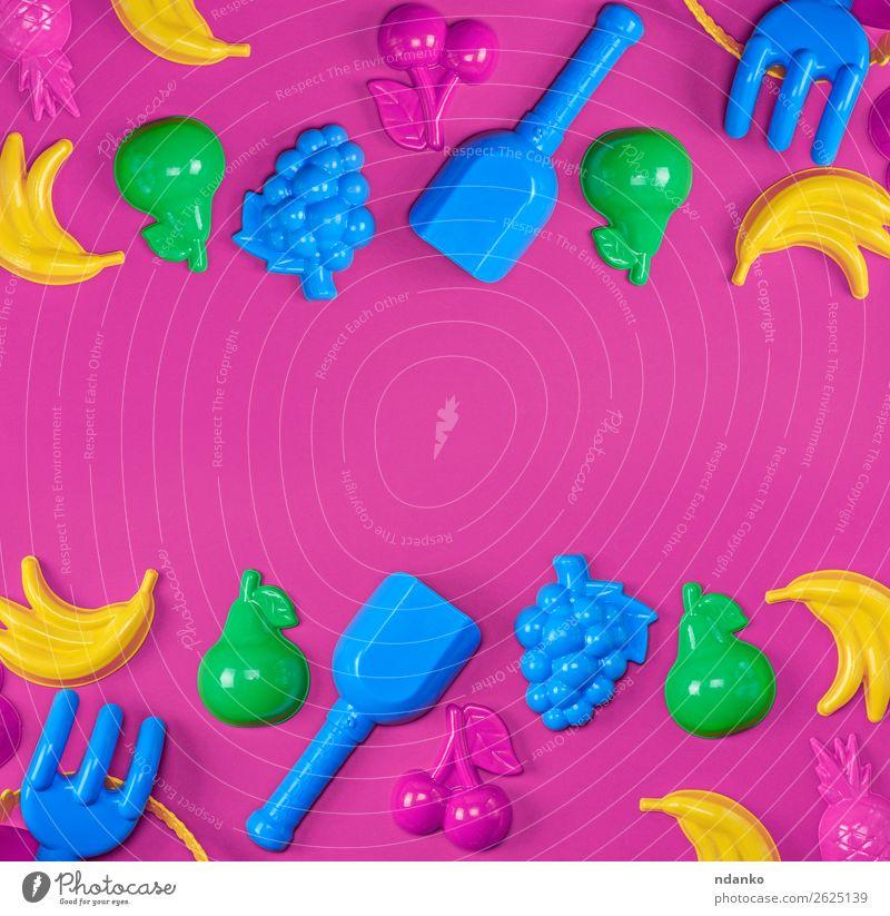 Kind Ferien & Urlaub & Reisen Sommer blau Farbe grün rot Freude gelb Spielen rosa Frucht oben Design hell Dekoration & Verzierung