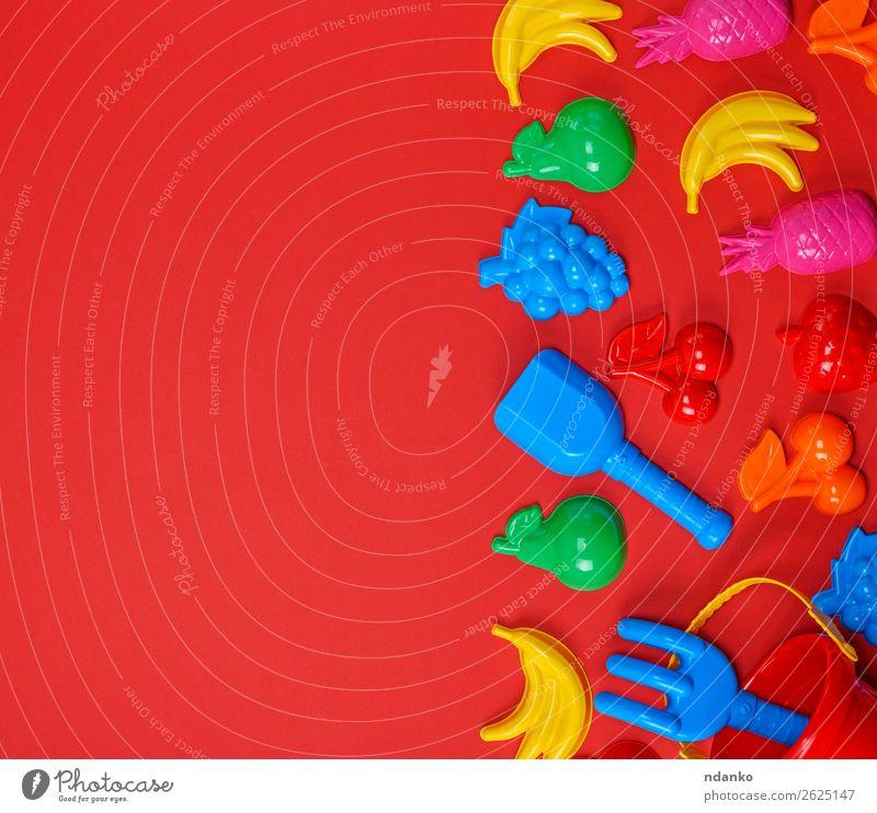 Plastik-Kinderspielzeug in Form von Obst Frucht Design Freude Spielen Dekoration & Verzierung Spielzeug Sammlung Kunststoff hell oben blau mehrfarbig gelb grün
