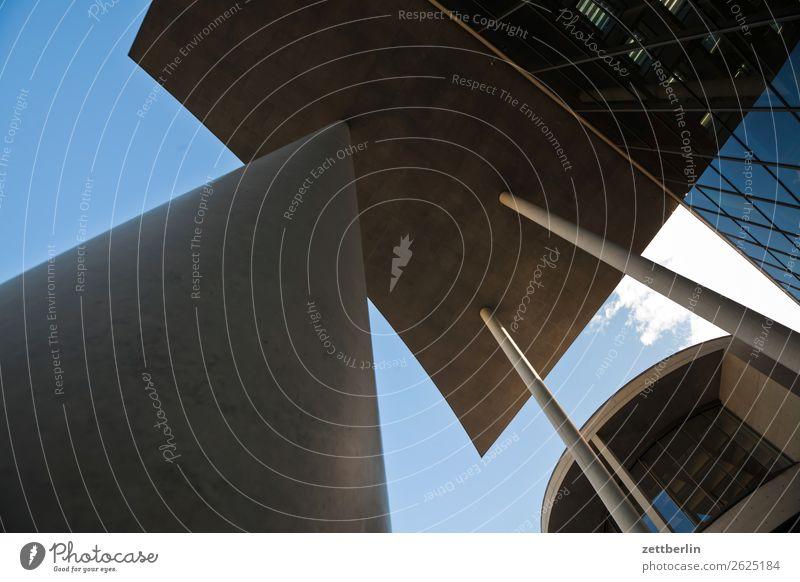 Paul-Löbe-Haus von unten Architektur Berlin Deutscher Bundestag Büro Großstadt Deutschland Froschperspektive Hauptstadt Himmel Himmel (Jenseits) Hochhaus