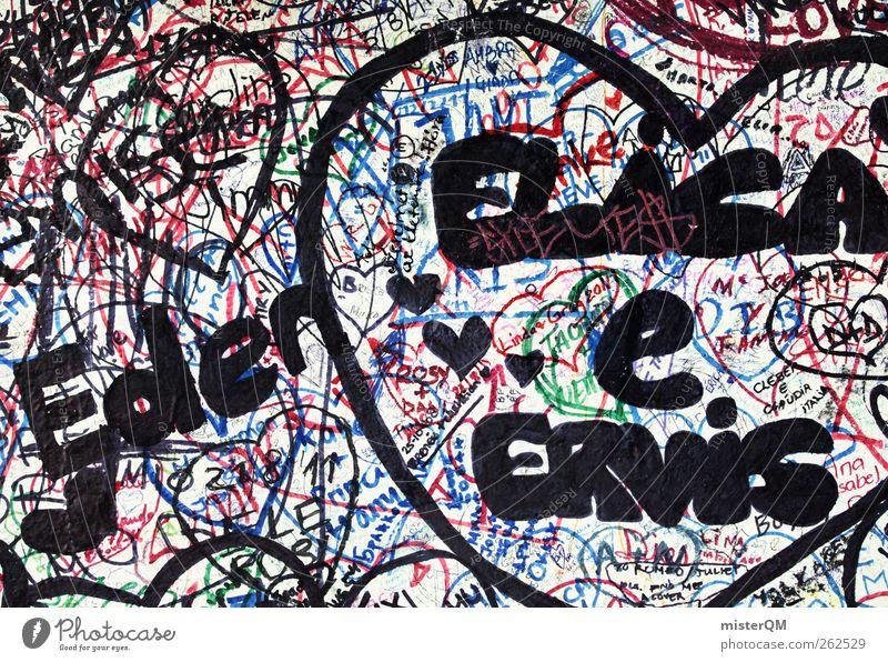 Elasa goes Eden. Jugendliche Liebe Wand Graffiti Kunst Herz Fassade modern ästhetisch Grafik u. Illustration Kreativität Zeichnung hässlich Kunstwerk Jugendkultur Pubertät