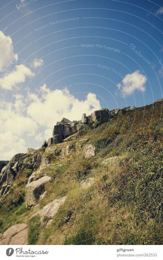 hoch hinaus Himmel Natur Pflanze Sommer Wolken Umwelt Wiese Landschaft Herbst Gras Stein Felsen hoch Klettern England aufsteigen