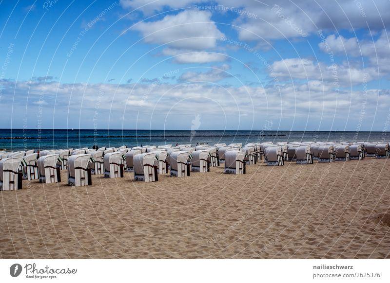 Strand Schwimmen & Baden Ferien & Urlaub & Reisen Tourismus Ausflug Sommer Sommerurlaub Umwelt Natur Landschaft Sand Luft Wasser Himmel Horizont Küste Ostsee