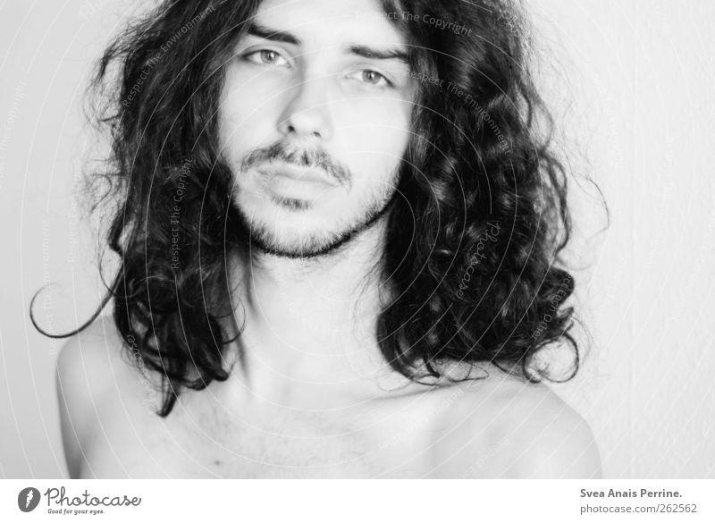 oder beides. Mensch Jugendliche schön Gesicht Erwachsene Haare & Frisuren hell maskulin 18-30 Jahre einzigartig Junger Mann dünn Locken Schulter langhaarig schwarzhaarig
