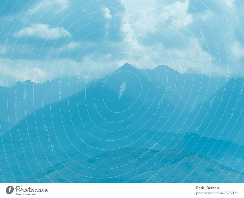 Himmel Ferien & Urlaub & Reisen Natur Sommer blau Farbe schön weiß Landschaft Wolken Wald Ferne Berge u. Gebirge Umwelt kalt Tourismus