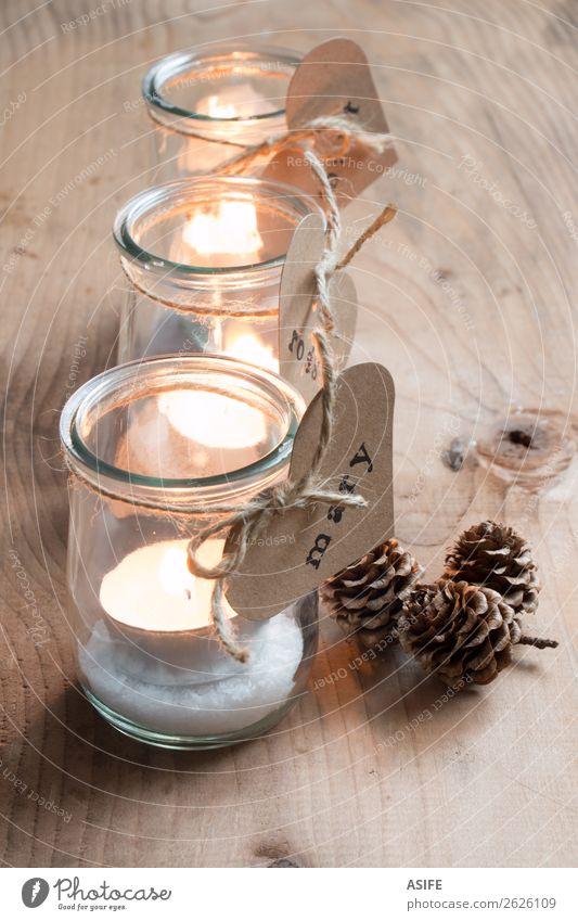 Eco Christmas Kerzenhalter Mittagessen Abendessen Dekoration & Verzierung Tisch Feste & Feiern Valentinstag Erntedankfest Weihnachten & Advent Handwerk Seil