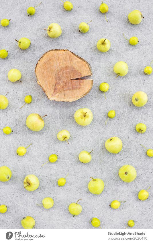 Natur Gesunde Ernährung Sommer Farbe grün Baum Lebensmittel Holz Herbst gelb natürlich Garten Textfreiraum grau Frucht