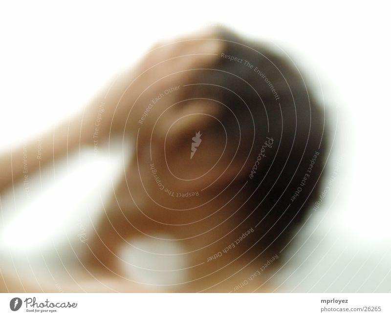 Aufwachen Unschärfe Licht harmonisch Hand Mann sanft helle Anmutung