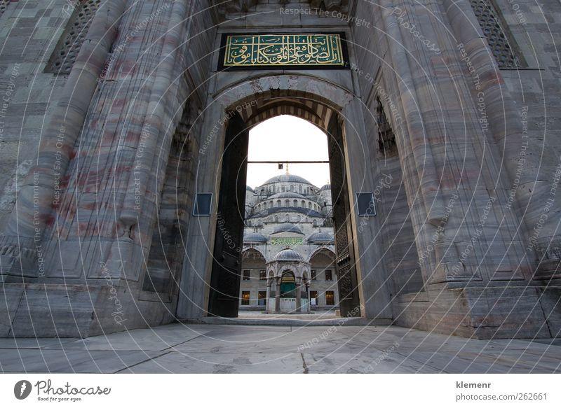 Großes Tor als Eingang zur Blauen Moschee, Istanbul Kunst Gebäude Architektur Ornament historisch blau gelb gold rot Religion & Glaube Tradition Truthahn