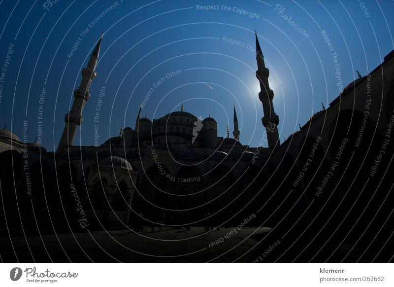 Bild innerhalb der Blauen Moschee in Istanbul, Tourismus Kultur Himmel Gebäude Architektur Denkmal historisch blau Religion & Glaube berühmt Truthahn Mitte