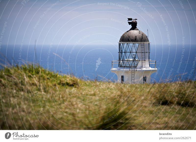Cape Reinga New Zealand Himmel Natur Wasser Sommer Meer Erholung Umwelt Landschaft Freiheit Stimmung Abenteuer Hügel Schönes Wetter Leuchtturm Kuppeldach
