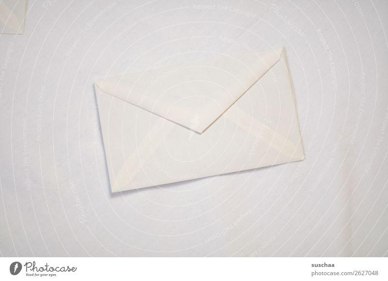 post einfach sehr wenige hell weiß Farblosigkeit einfarbig botschaft Mitteilung Information Post senden Brief Briefumschlag schreiben Kommunizieren Papier