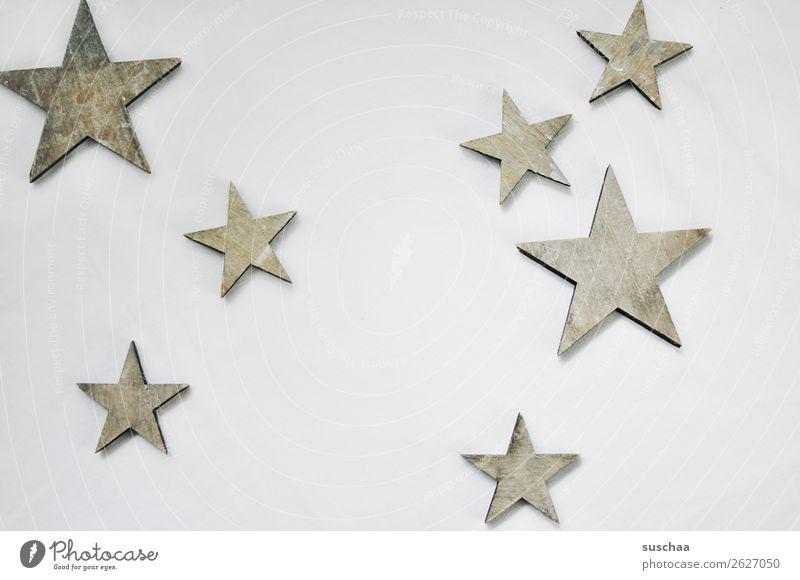 sterne Stern (Symbol) Hintergrund neutral weiß Symbole & Metaphern Weihnachten & Advent Dekoration & Verzierung Feste & Feiern Tradition einfach Holz Holzstern