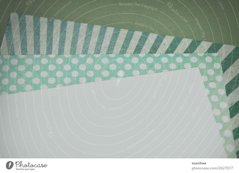 briefwechsel grün Blatt Textfreiraum Kommunizieren Papier Information schreiben analog Zettel altmodisch Gruß Schreibpapier