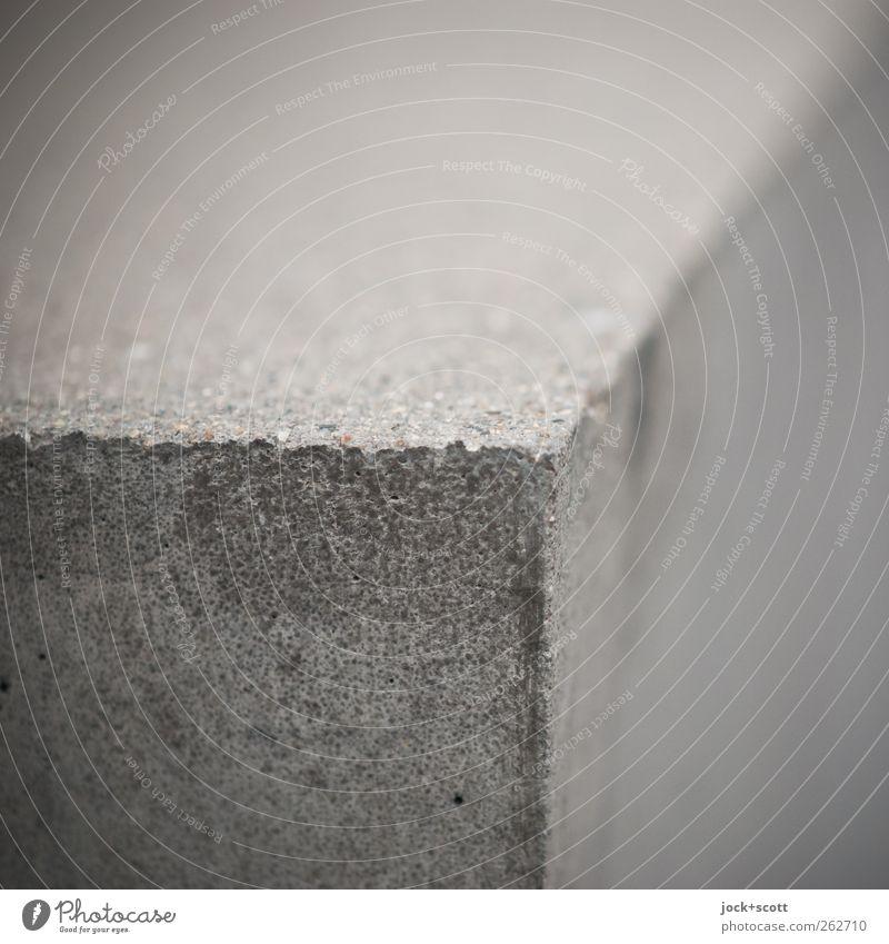 Quader im Quadrat grau Stein Linie Kunst Perspektive Ecke Spitze einfach Wandel & Veränderung rein Denkmal Sehenswürdigkeit eckig Geometrie Skulptur Oberfläche