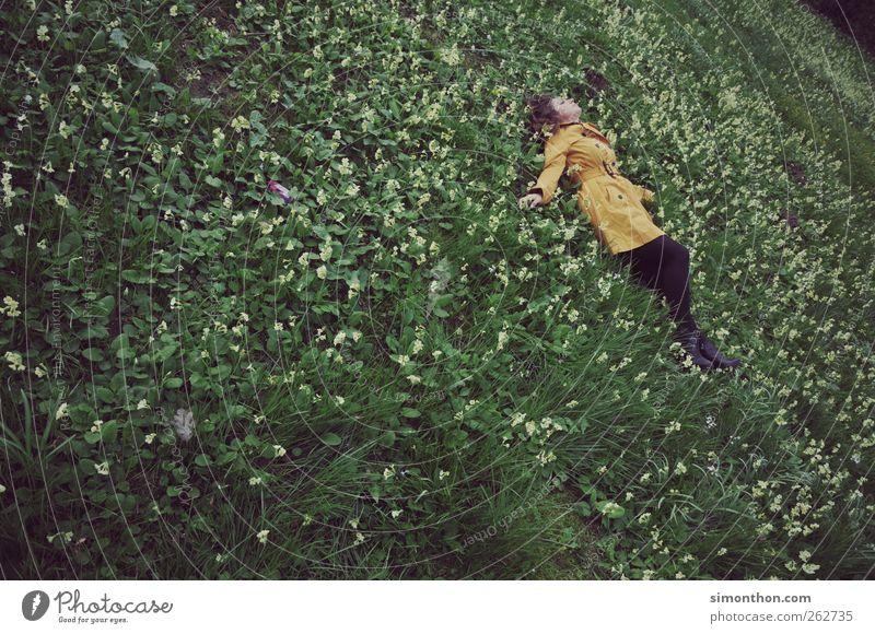 blumenwiese harmonisch Wohlgefühl Zufriedenheit Erholung ruhig Ferien & Urlaub & Reisen Ausflug Freiheit Mensch maskulin 1 18-30 Jahre Jugendliche Erwachsene