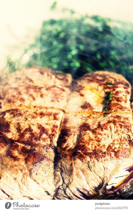 beef Lebensmittel Fleisch Ernährung Festessen Duft heiß lecker Appetit & Hunger Völlerei Rostbraten Rumpsteak Braten Feinschmecker Kräuter & Gewürze Farbfoto