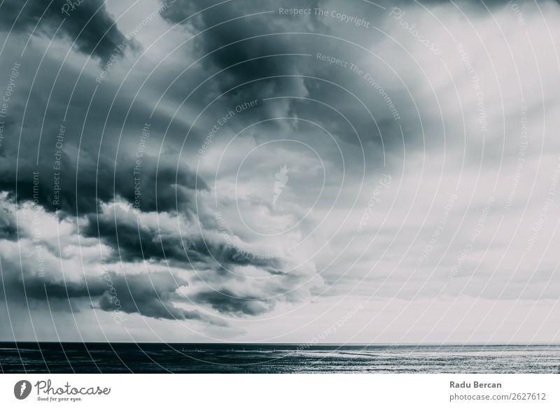 Himmel Natur Himmel (Jenseits) Sommer blau Wasser weiß Landschaft Meer Wolken Ferne Strand dunkel schwarz Umwelt kalt