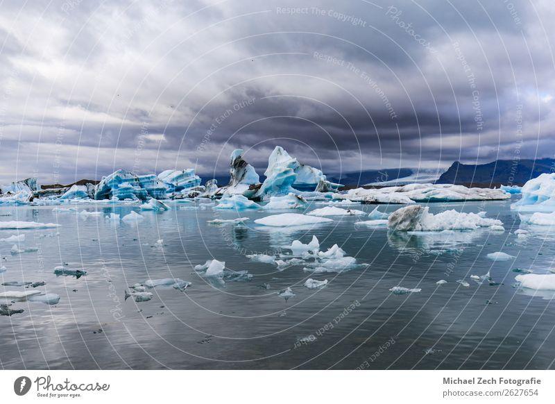 Eisberge in der jokulsarlon glazialen Lagune vatnajokull schön Ferien & Urlaub & Reisen Tourismus Abenteuer Strand Meer Schnee Berge u. Gebirge Natur Landschaft