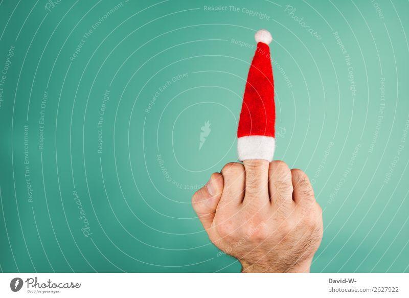 wieso so negativ Lifestyle elegant Stil Design Feste & Feiern Weihnachten & Advent Mensch maskulin Mann Erwachsene Leben Hand Finger 1 Kunst Künstler