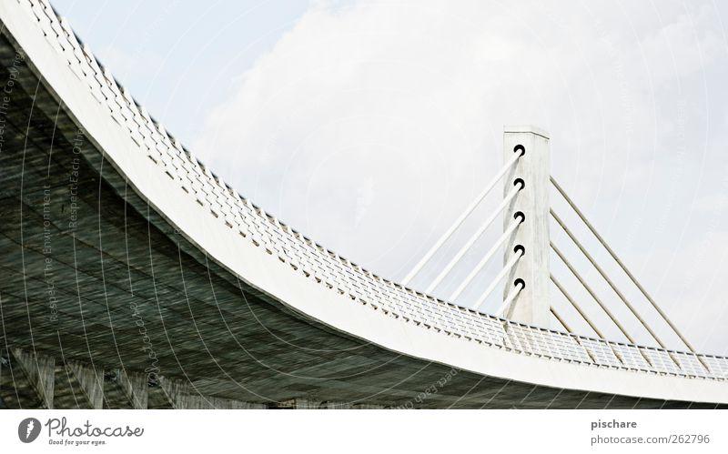 Curve Brücke Architektur Verkehrswege Hochstraße Stadt Kurve Farbfoto Gedeckte Farben Außenaufnahme