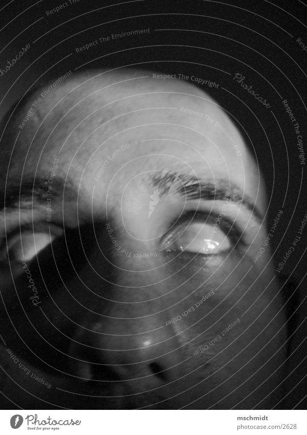 doc death? Mensch Auge Angst Tod Schwarzweißfoto