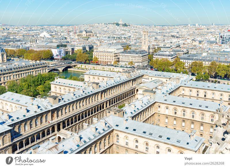 Pariser Stadtlandschaft mit Luftbildarchitektur schön Ferien & Urlaub & Reisen Tourismus Sightseeing Städtereise Sommerurlaub Architektur Landschaft Himmel