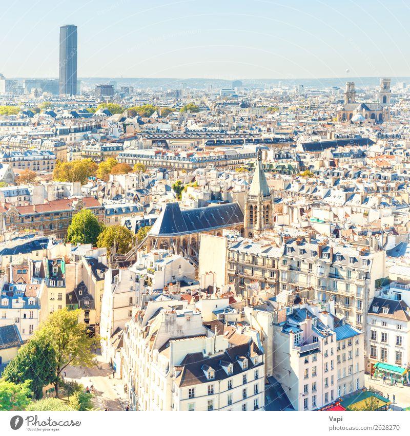 Pariser Stadtlandschaft mit Luftbildarchitektur schön Freizeit & Hobby Ferien & Urlaub & Reisen Tourismus Ausflug Abenteuer Ferne Freiheit Sightseeing