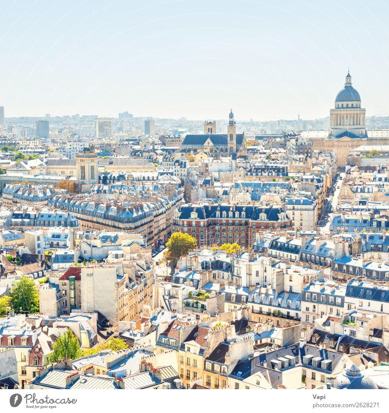 Pariser Stadtlandschaft mit Luftbildarchitektur Freude schön Freizeit & Hobby Ferien & Urlaub & Reisen Tourismus Ausflug Ferne Freiheit Sightseeing Städtereise