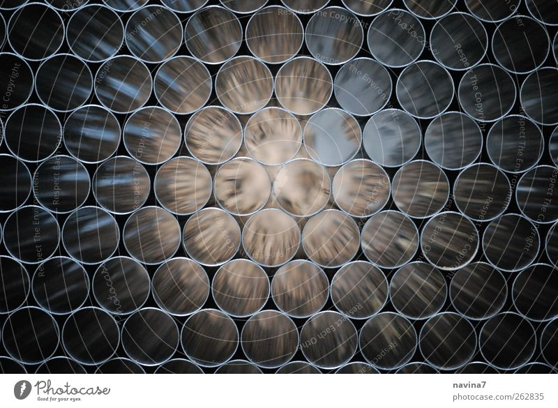 Tunnelblick Industrie Handwerk Technik & Technologie Röhren Metall Stahl glänzend braun silber Kreis Geschwindigkeit Farbfoto Gedeckte Farben Innenaufnahme
