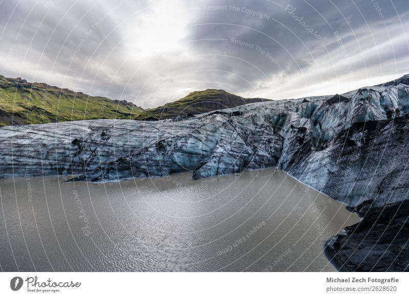 schöne Gletscherstruktur auf dem Lagunenfjallsarlon in Island Ferien & Urlaub & Reisen Tourismus Ausflug Sommer Insel Schnee Berge u. Gebirge wandern Natur