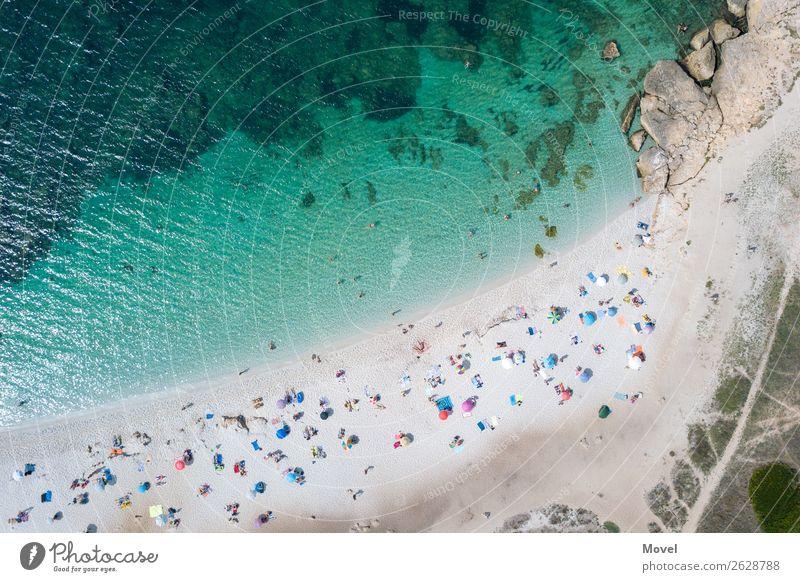 Spiaggia Pubblica Mensch Ferien & Urlaub & Reisen Jugendliche Sommer Sonne Meer Strand Erwachsene Küste Familie & Verwandtschaft Tourismus Schwimmen & Baden