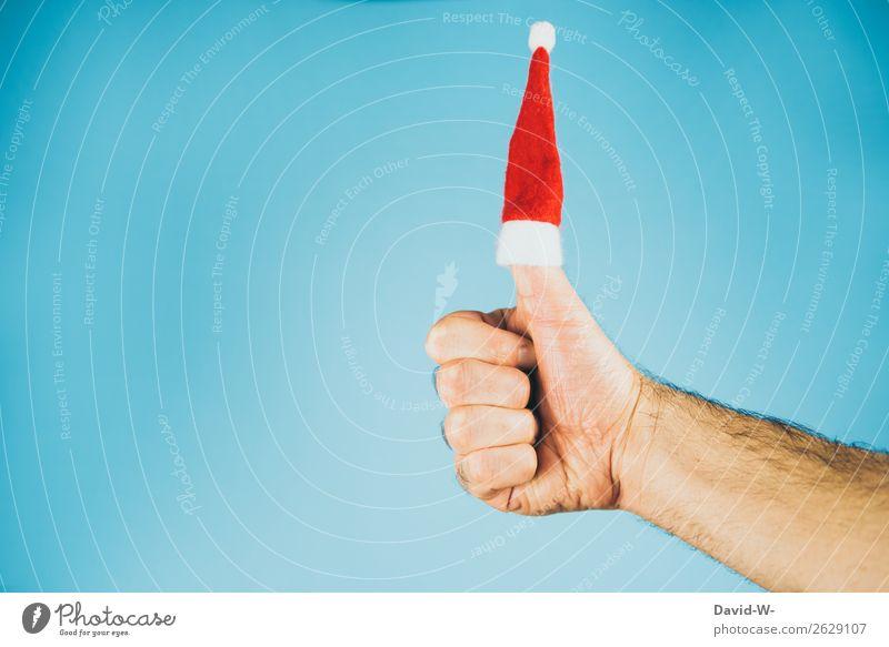 Vorfreude - Check! Mensch Mann Weihnachten & Advent Hand Freude Erwachsene Leben Liebe Gefühle Glück Stil Kunst maskulin träumen elegant Finger