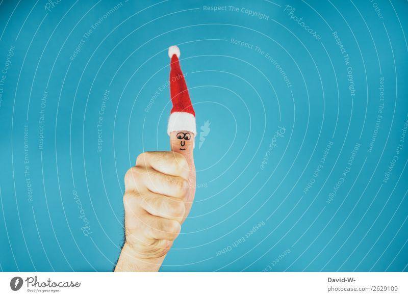 Frohe Weihnachten Mensch Jugendliche Mann Weihnachten & Advent Junger Mann Hand Freude Erwachsene Leben lachen Feste & Feiern Stil Kunst Spielen Design maskulin