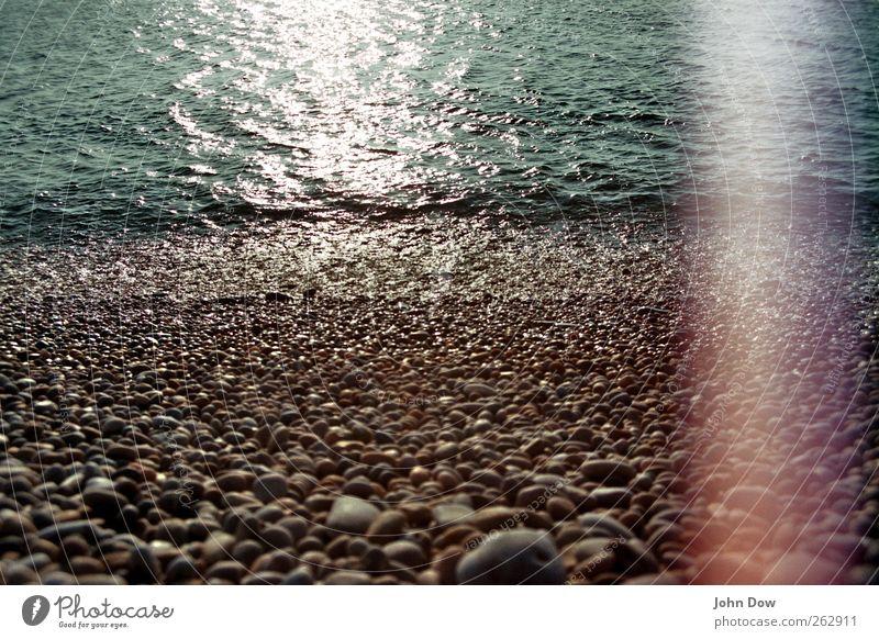 light's fading Ferne Küste Meer Insel fantastisch Vergangenheit Vergänglichkeit retro analog Chesil Beach England Kieselsteine steinig Steinstrand
