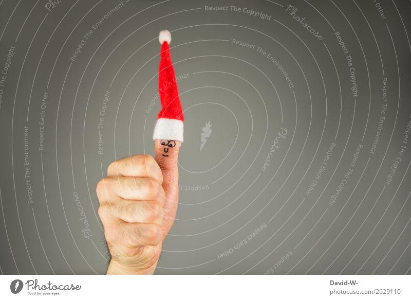 Vorfreude Mensch Mann Weihnachten & Advent Hand Freude Gesicht Lifestyle Erwachsene Leben Familie & Verwandtschaft Stil Feste & Feiern Kunst Zufriedenheit