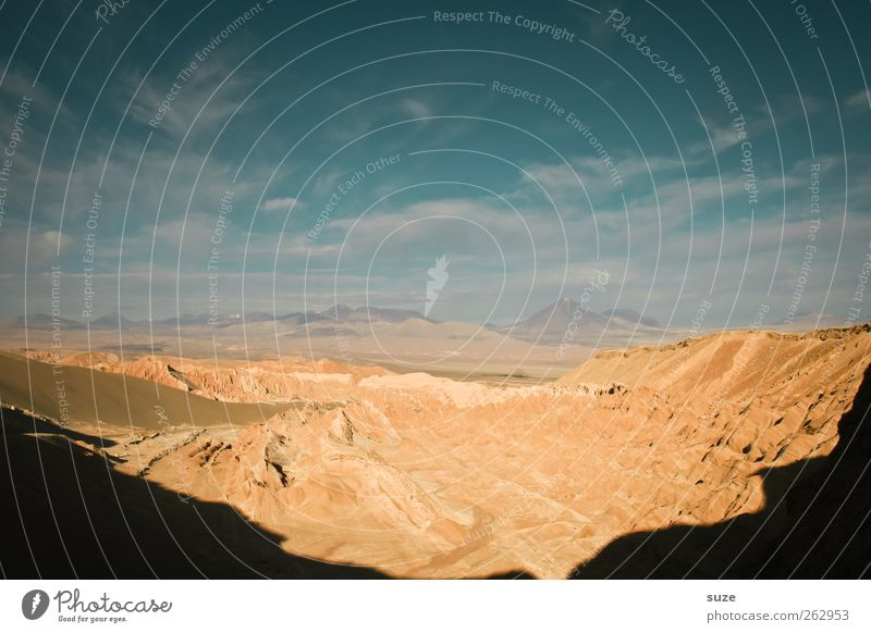 Beschattung Sommer Berge u. Gebirge Umwelt Natur Landschaft Urelemente Erde Sand Luft Himmel Wolken Horizont Klima Wetter Schönes Wetter Wärme Felsen Schlucht