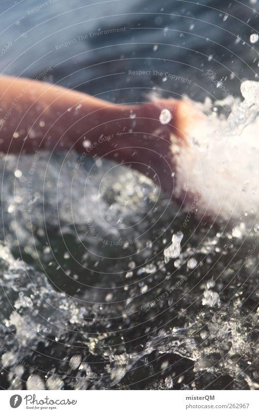 run. Wasser Sommer Meer Gefühle Freiheit Bewegung Kunst Zufriedenheit Wellen laufen nass Tierfuß rennen Wassertropfen ästhetisch Aktion