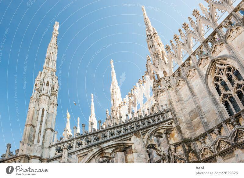 Himmel Ferien & Urlaub & Reisen alt blau Stadt schön weiß schwarz Architektur Religion & Glaube gelb Gebäude Kunst Tourismus Stein grau